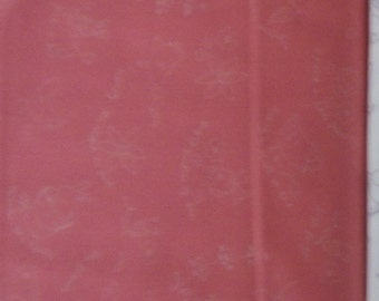 OOP Posy By Aneela Hoey For Moda cute little sketches on a darker peach colored back ground 1 yard