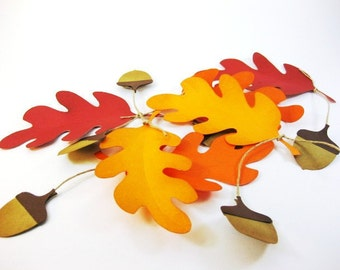 Autumn Rustic Table Place Cards Fall Wedding Leaf and Acorn Thanksgiving Buffet Cards QueenBeeInspirations