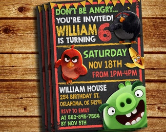 Angry Birds Invitations, Angry Birds Party Invitations, Angry Birds Invitations, Angry Birds Supplies, Angry Birds Party Invitation