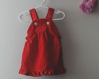 Vintage Girls Pinafore Dress