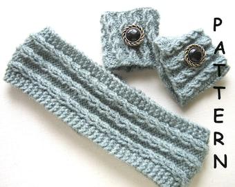 pdf Knitting Pattern Headband and Cuff Set
