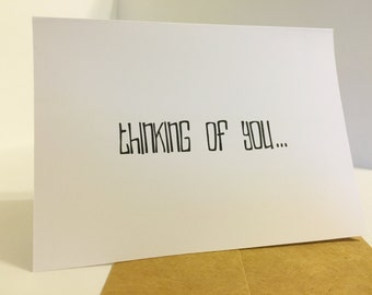 Thinking of You... Naked. Notecard