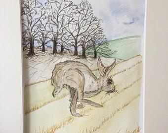 Hares in art