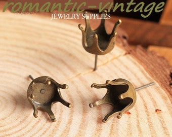 supports 2 pairs earrings bronze 10mm