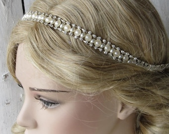 Wedding headband, bridal headpiece, pearl headband, bridal accessories