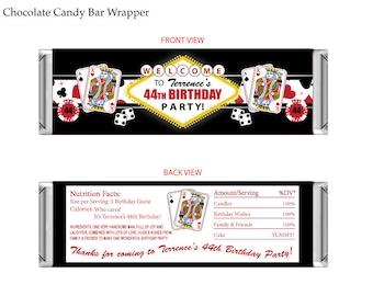 Las Vegas Casino Theme Chocolate Candy Bar Wrapper