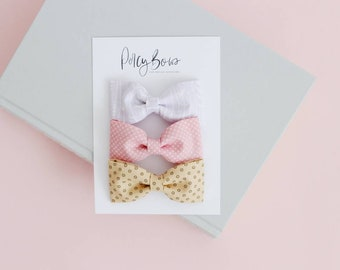 Classic bow set | lilac/pink/dotty