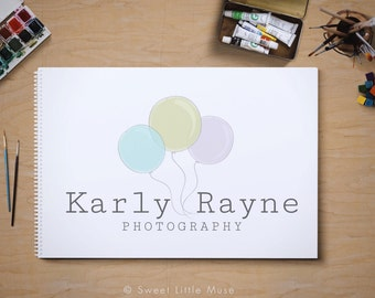 Premade logo - photography logo - balloon logo
