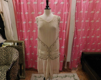 Rare Flapper Dress/ 1920/ Great Gatsby/ Original dress/ Zelda Fitzgerald /Stunning Flapper/