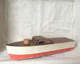Vintage 1940's era Jet-Craft Wood Toy Boat