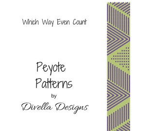 Peyote Pattern, Which Way, Beading Pattern, Earring tutorial, Clasp Tutorial, Even Count