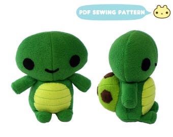 Plush Sewing Pattern, Plush Turtle Pattern, Turtle Instant Download, Stuffed Turtle Toy, Plush Toy Pattern, Plushie Turtle DIY, Toy Turtle