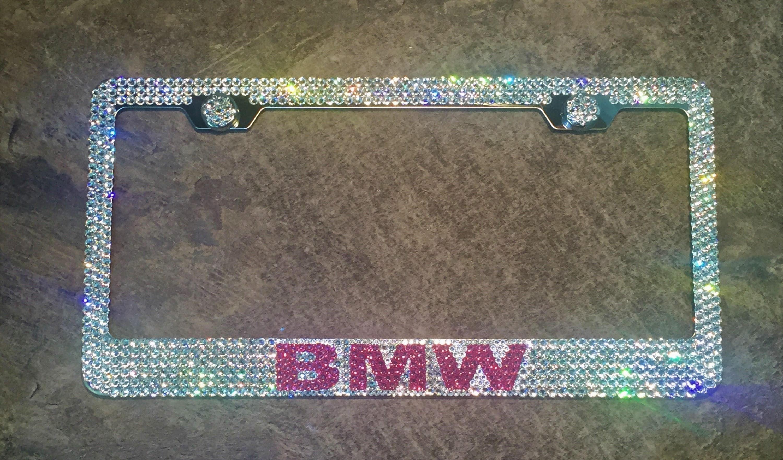 Rosa BMW Nummernschild Rahmen mit Swarovski Crystals