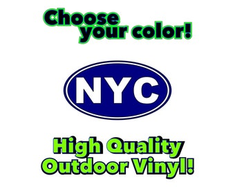 NYC Vinyl Decal Sticker Pick Your Color! New York City Car Decal Laptop Etc... 18 Colors to choose from!