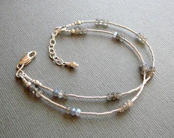 Labradorite Bracelet, Silver Bracelet for Women, 925 Silver Bracelet, Ladies Silver Bracelet, Labradorite Jewelry, 925 Jewelry, Silver Gift
