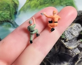 2 miniatures climbing man  perfect for miniature terrarium or diorama
