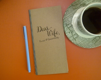 4th Anniversary // Dear Wife On Our 4th Anniversary  Journal // Staple Bound Journal