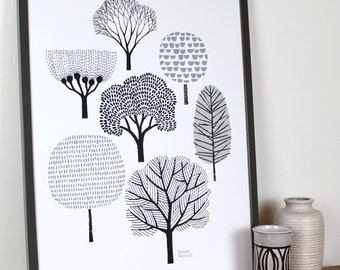 Forest, large limited edition hand-pulled screen print