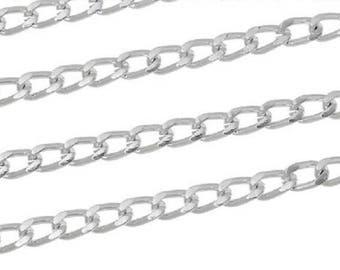 Chains of aluminum silver matte 7mm x 4mm, 1 M