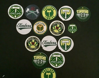 Portland Timbers Buttons Set of 15