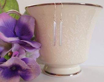 Dangling Bar Earrings - Minimalist Earrings - Sterling silver Bar Earrings - Teen Gift Idea - Woman's Earrings - Bar Earrings