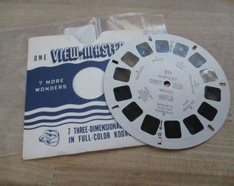Vintage, Antique Viewmaster reels - Acapulco, Mexico - Reel No. 511 - 1953- No longer produced - from collection of over 100 reels.