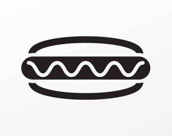 Decal Sticker Hot Dog Motorbike Weatherproof food restaurant decoration 04138