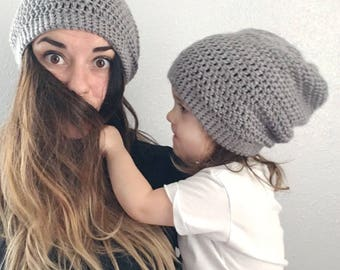 ALL SIZES - Slouch Beanie - Pick Your Color