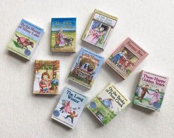 Popular Little House Series One Twelfth Scale Miniature Book Set of Nine