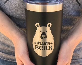 Coffee Mug Mama Bear, tired as a mother, mom life, toddler, mom, sister, aunt, gift, present, coffee, coffee lover, tumbler, cup, baby, kids