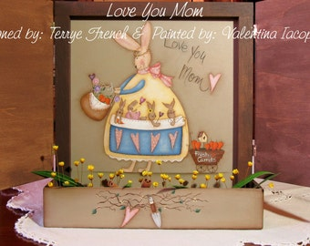 Love you Mom by Valentina Iacopinelli for Painting with Friends. E-Pattern