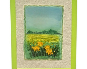 Wall hanging Textile Art  Framed picture Embroidery painting Homeware decoration gift for her