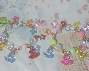 Kawaii Fairy Kei Teddy Bear Gummy Bear Candy Bracelets