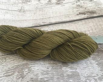 Naturally dyed yarn - Tansy and Iron on BFL Sock Yarn