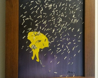 Acrylic on canvas painting | When it rains it pours | Original Painting