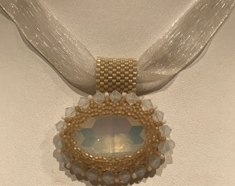 Beaded Rivoli Necklace