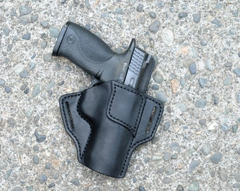Smith and Wesson M&P holster Black Leather Mid Ride Right Hand