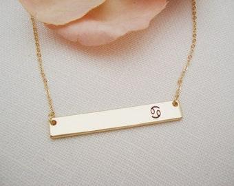 Zodiac Necklace... Laser Engraved Aries, Taurus, Gemini, Cancer, Leo, Virgo, Libra, Scorpio, Sagittarius, Capricorn, Aquarius, Pisces