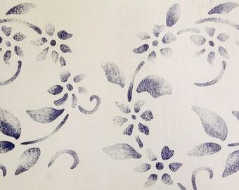 """Stencil by Plaid, Chintz Daisy 26691, 15.25"""" x 8"""" approx., NEW Sealed Pkg, Mylar"""