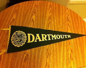 Dartmouth College Vintage Felt Pennant