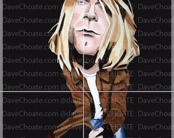 Kurt Cobain, Nirvana. Art Photo Print