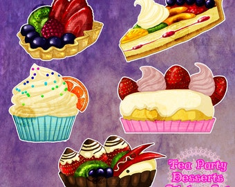Tea Party Dessert Stickers