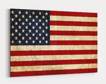 American Flag Print Panel, Premium Quality USA Flag On Canvas, American Flag Wall Art, American Flag Canvas Art, Usa Flag Print, Home Decor