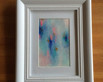 Original Acrylic Abstract Painting on unstretched canvas framed, Abstract Art, Modern Art, Abstract Painting