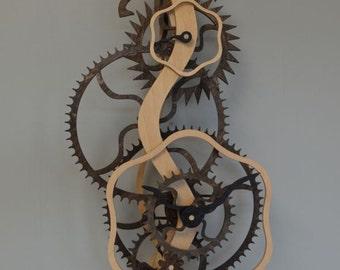 Serpentine Wooden Clock Kit
