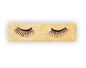 EYELASHES mounted rubber stamp, womens fashion, eye lash stamp, Sweet Grass Stamps No.5