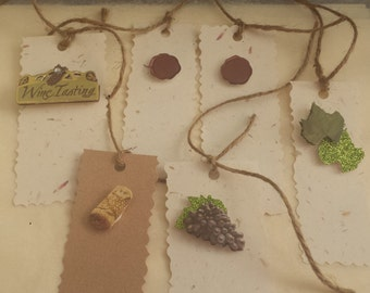 Wine Gift tag set/Vineyard/ Italy/Vintage/Gift