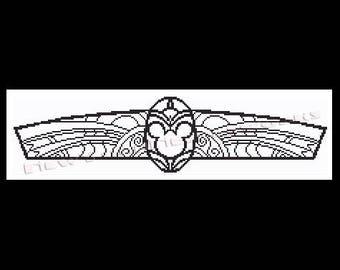 Mickey Mouse Art Deco, Cross Stitch Pattern, Disney Cross Stitch, Patterns, Silhouette, Mickey Mouse, Disney from NewYorkNeedleworks on Etsy