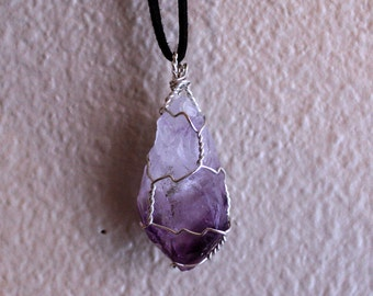 Wrapped Amethyst Crystal