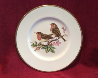 "Coalport British Birds Robin Bone China Plate 10 3/4"" diameter"